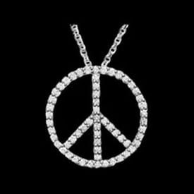 Platinum Peace Sign