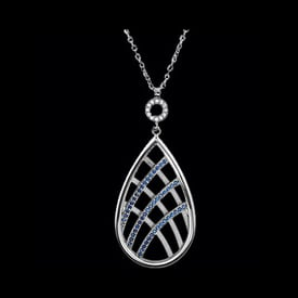 Platinum and Sapphire Necklace