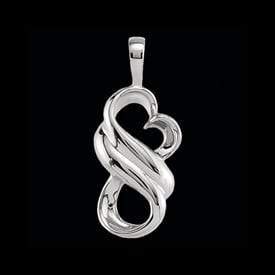 Platinum Wrapped Heart Pendant