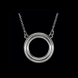 Platinum Circle Necklace