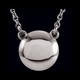 Platinum Convex Necklace
