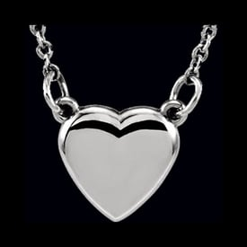 Platinum Heart Necklace