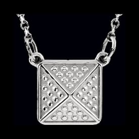 Platinum Pyramid Necklace