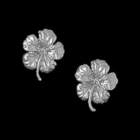 Platinum Tropical Flower Earrings