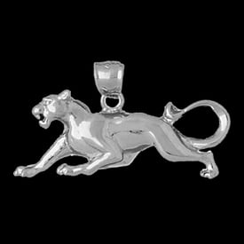Platinum Big Cat Pendant