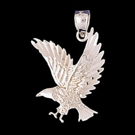 Platinum Open Winged Eagle Pendant