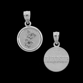 Platinum Friendship Charm Pendant