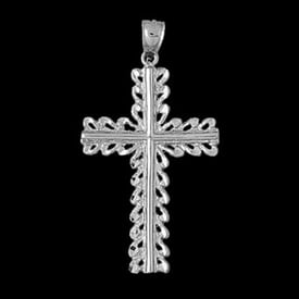 Large Platinum Cross Pendant