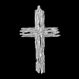 Platinum Timber Cross Pendant