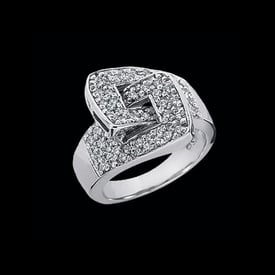Platinum Diamond Buckle Ring