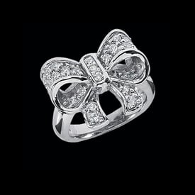 Platinum Diamond Bow Ring