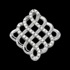 Platinum Celtic Diamond Pendant
