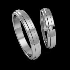 ARM103 Fancy Platinum Wedding Band