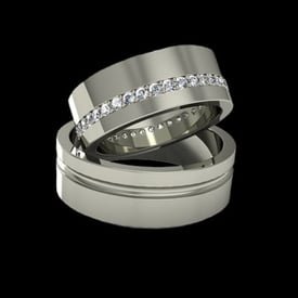 Bold Platinum Wedding Band