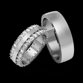 Captivating Platinum Diamond Band