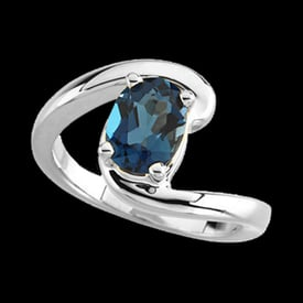 Platinum Gemstone Ring