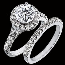 Charming  Platinum Diamond Semi Mount