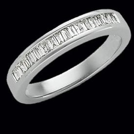 Diamond Baguette Platinum Band
