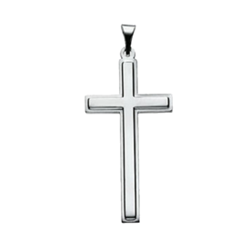 Platinum Sleek Cross Pendant