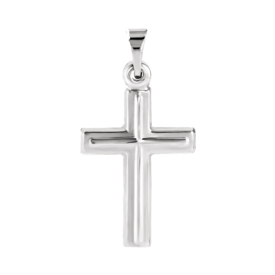 Small Platinum Cross Pendant