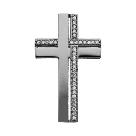 Platinum Dual Design Cross Pendant