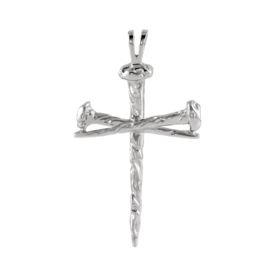 Platinum 950 Nail Cross Pendant